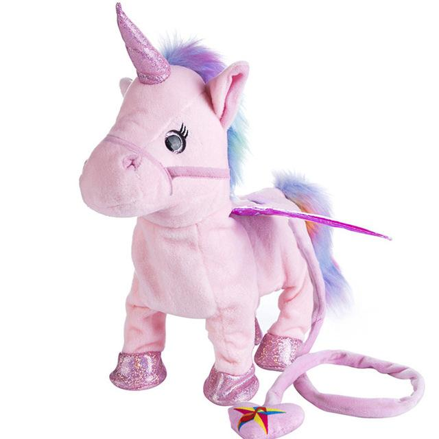 Walking & Singing Unicorn Toy GEEKS1024 Pink
