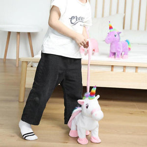 Walking & Singing Unicorn Toy GEEKS1024 White