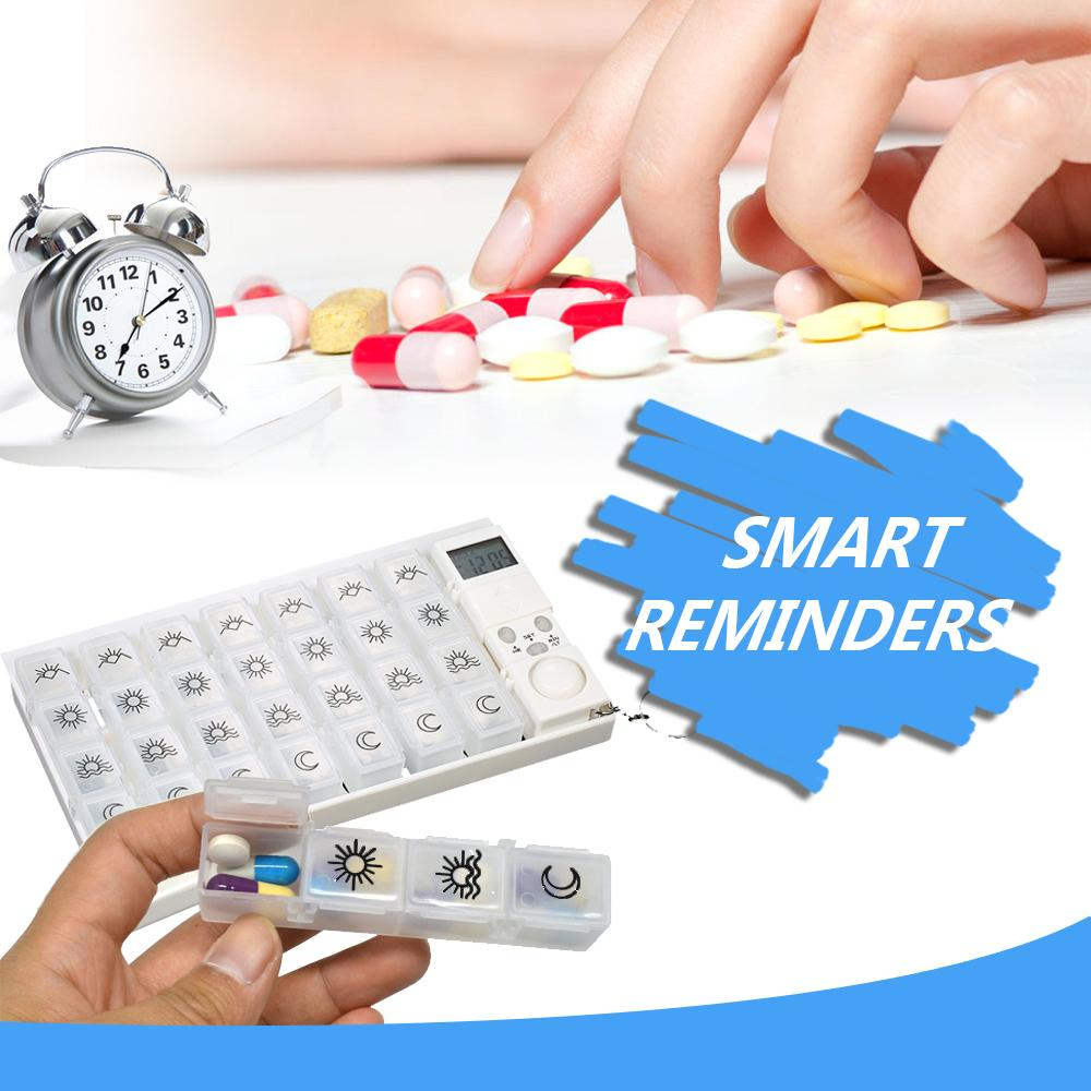Weekly Reminder Pill Dispenser Health GEEKS1024