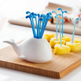 Load image into Gallery viewer, White Whale Fruit Fork Set Fruit Fork InspirExpress