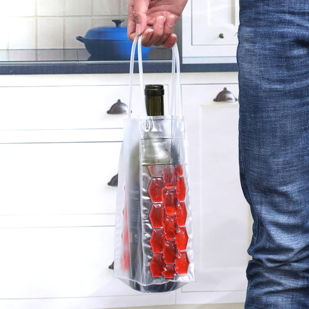 Wine Freezer Bag Bag InspirExpress Red