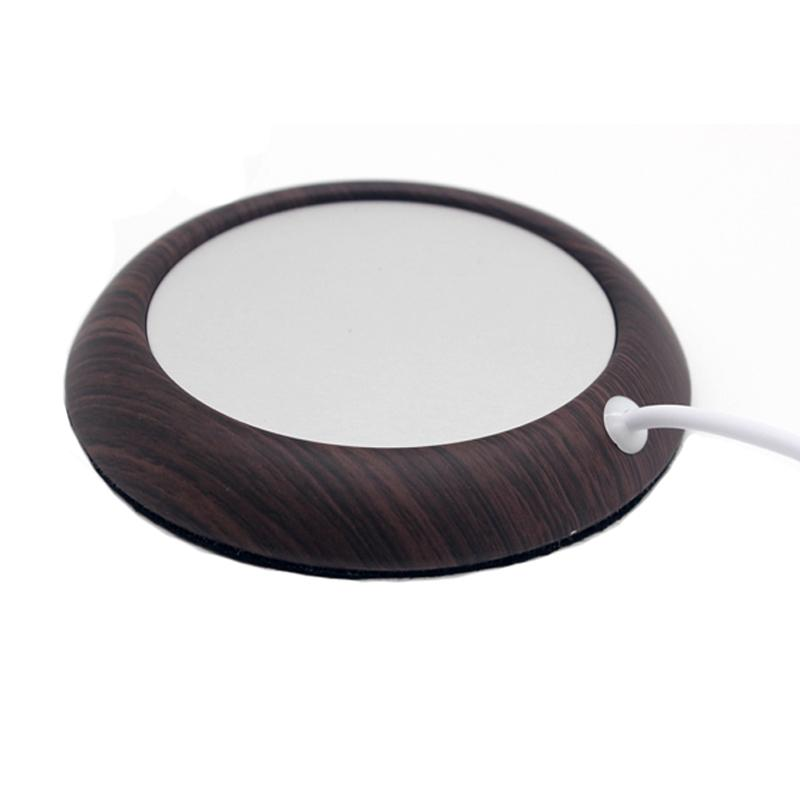 Wood Grain Cup Warmer Mat InspirExpress Dark Wood Grain