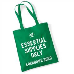 Essential Supplies Only Lockdown 2020 Tote Bag