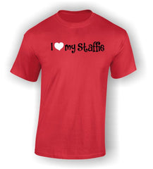 'I Heart my Staffie' Adult T-Shirt