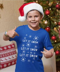 Let it Snow, Christmas Kids Crew Neck T-Shirt