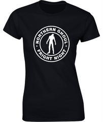 Northern Ghoul (Zombie) - Fun Halloween T-Shirt - Ladies Crew Neck