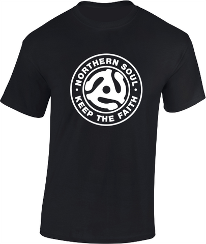 Northern Soul, 45 Adaptor T-Shirt (a) - Mens