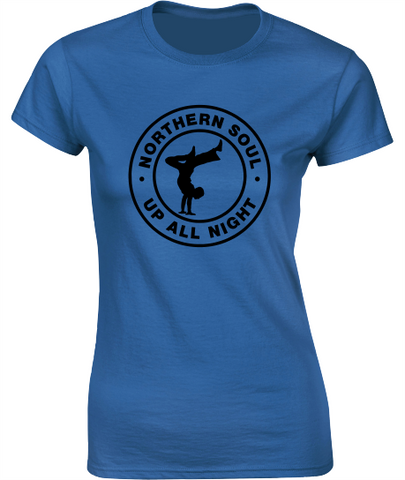 Northern Soul, Soul Dancer T-Shirt - Ladies Crew Neck