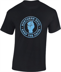 Northern Soul Fist, Keep The Faith T-Shirt - Mens