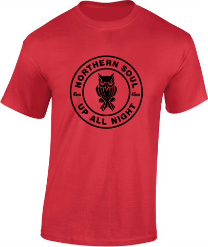 Northern Soul, Up All Night, Night Owl T-Shirt - Mens