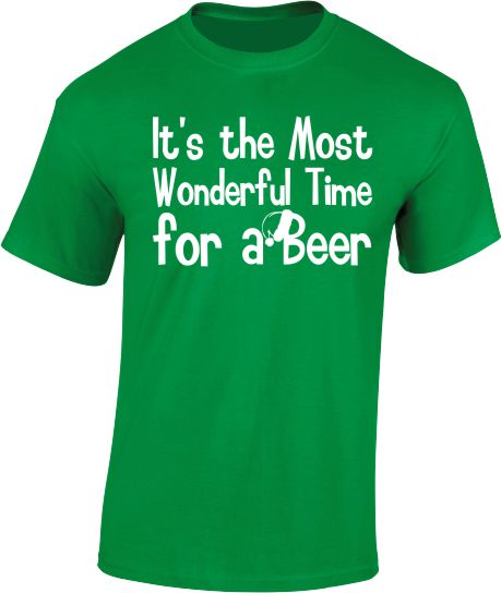 The Most Wonderful Time for a Beer. Christmas T-Shirt - Mens