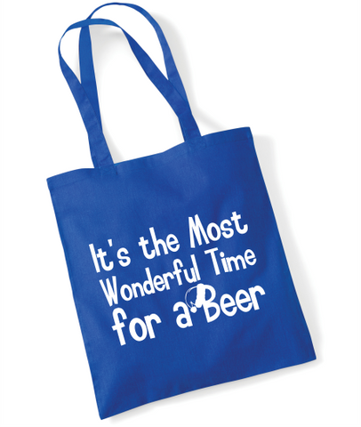 The Most Wonderful Time for a Beer, Christmas Tote Bag