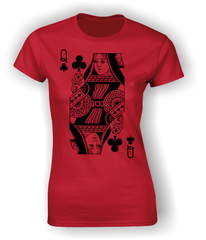 Queen of Clubs (Full) T-Shirt