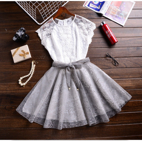 Elegant A-Line Lace Casual Party Dress - Womozon