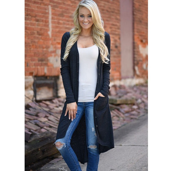 Long Sleeve Elegant Cardigan - Womozon