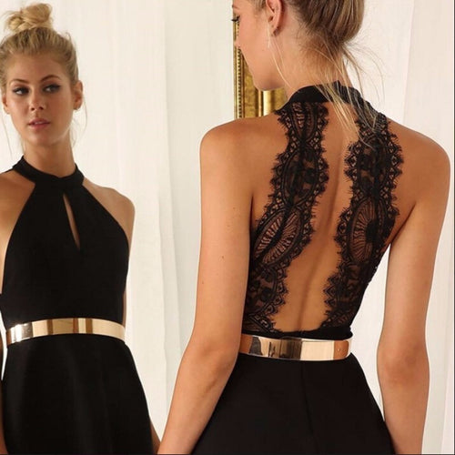 Fashion Backless Dress - Womozon