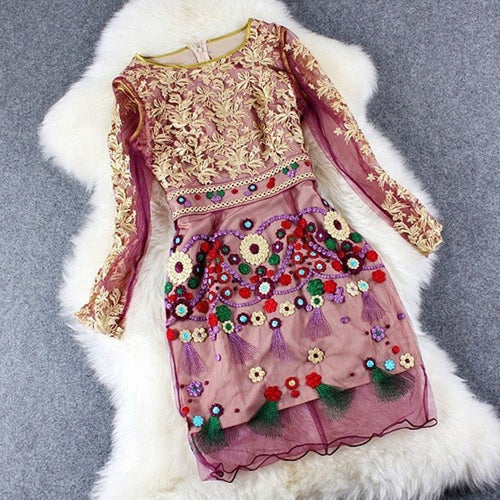 Embroider Party Dress