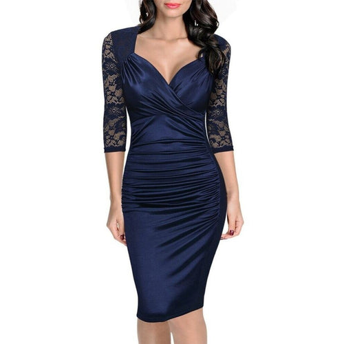 Bodycon Pencil Sheath Dress - womozon