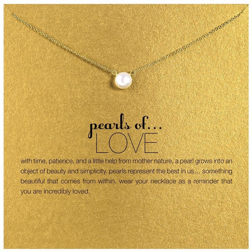 pearl of love Pendant Necklaces