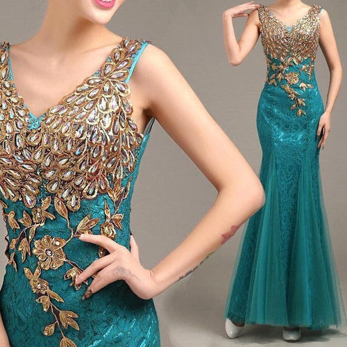Mermaid Beading Party Dress - womozon