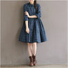 Loose Waist Plaid Dress