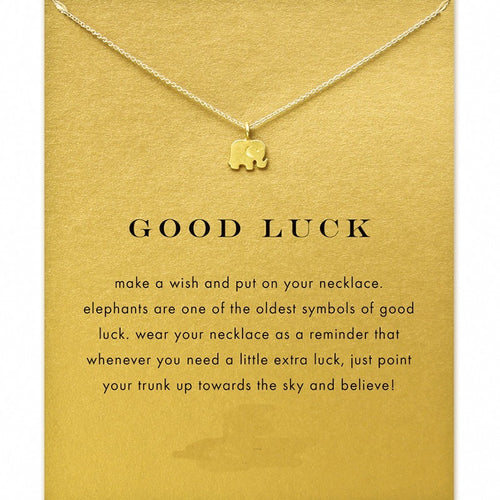 good luck elephant Necklace