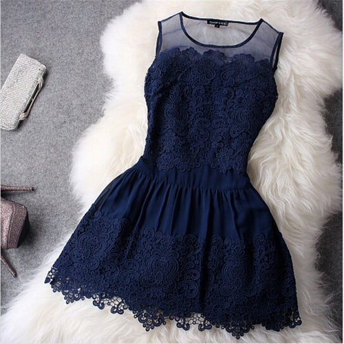 Party Evening Lace Dress - womozon