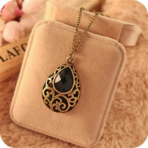 Fantasy Black Drop Necklace