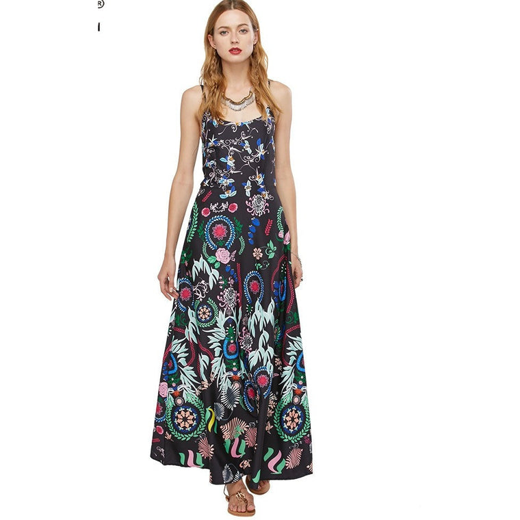 Ethnic Printed Long  Maxi Dress