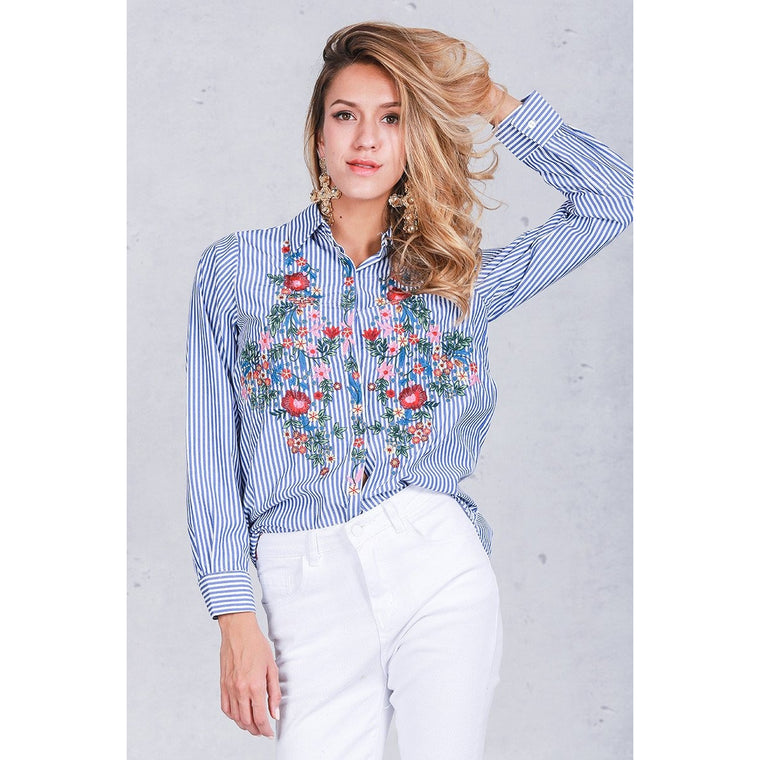 Embroidery  blouse shirt