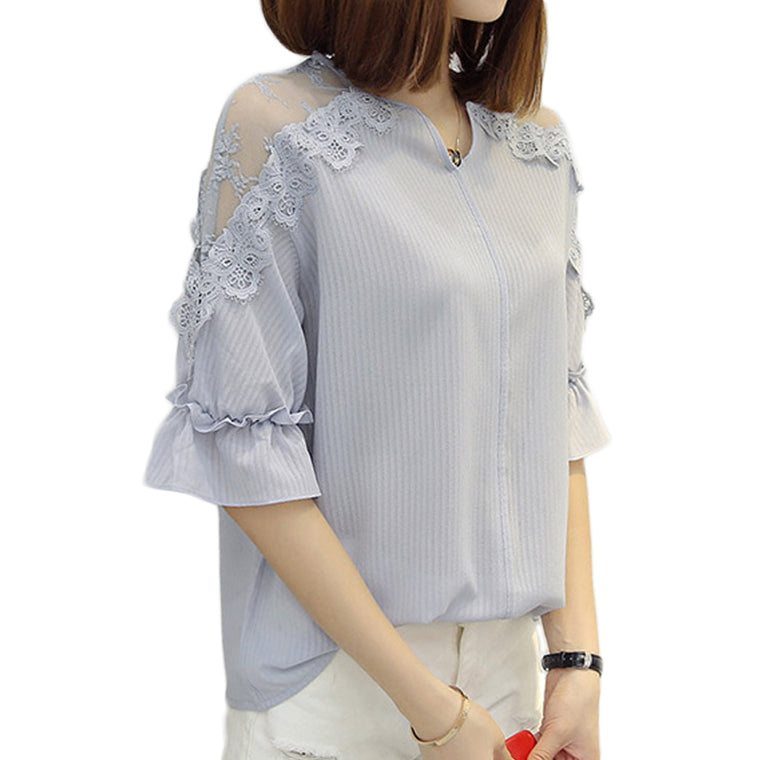 Off Shoulder Patchwork Top