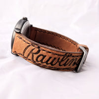 Baseball Glove Watchband. Made from a real baseball mitt