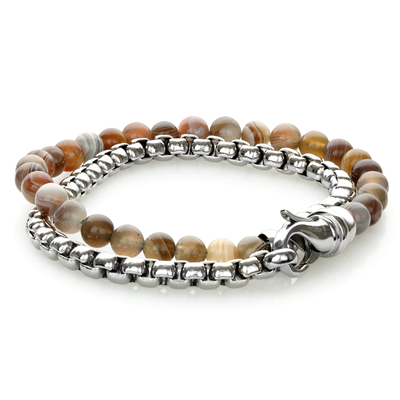 POLISHED-BRUSHED PERSIA WRAP BRACELET