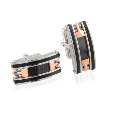 ITALGEM STEEL CABLE CUFFLINKS