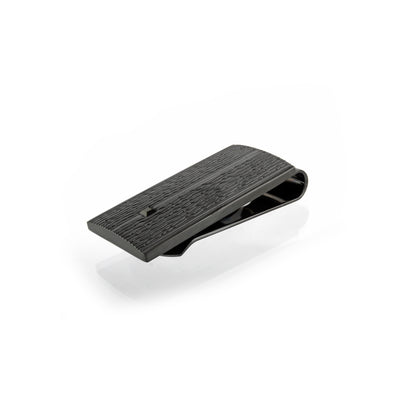 BLACK-IP S.STEEL BLACK-CZ WAVE-DESIGN MONEYCLIP