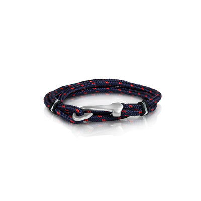 FISH HOOK RED-BLUE CORD BRACELET
