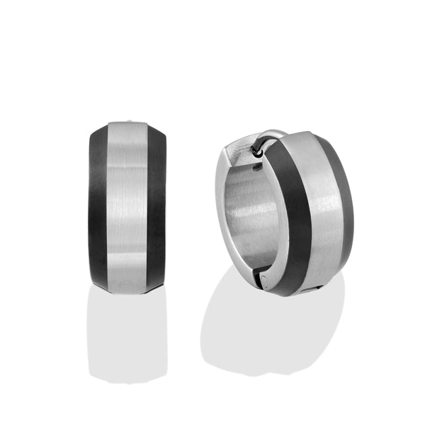 621c8fd1e ITALGEM STEEL S.STEEL-CENTRE 6MM BLACK-IP BEVEL-EDGE HUGGIES - Italgem Steel