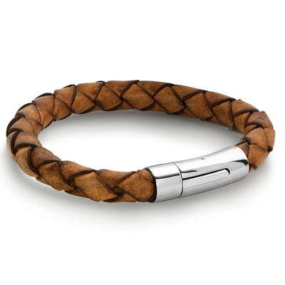 RED-BROWN LEATHER BRACELET
