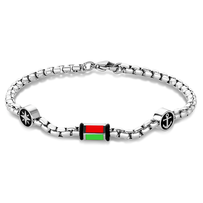 ITALIAN FLAG ANCHOR-STAR BRACELET