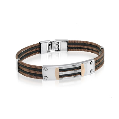 COFFEE 18K ROSEGOLD CABLE BRACELET