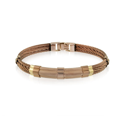 COFFEE-IP CABLE 18K GOLD BRACELET