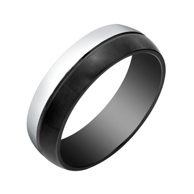 BLACK AND WHITE STAINLESS STEEL BAND