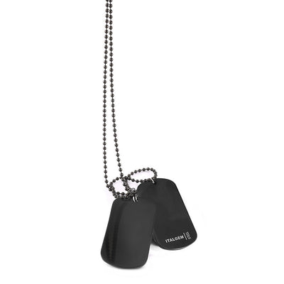 BLACK-IP DOUBLE DOGTAG SET