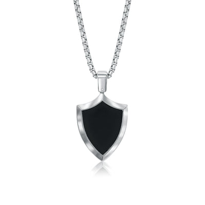 BLACK-IP CREST DOG TAG NECKLACE