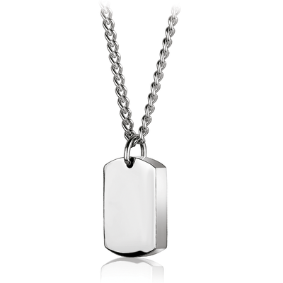 POLISHED BRUSHED REVERSIBLE URN PENDANT NECKLACE