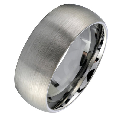 ITALGEM STEEL TUNGSTEN CARBIDE - 8 MM BRUSHED TIFFANY BAND