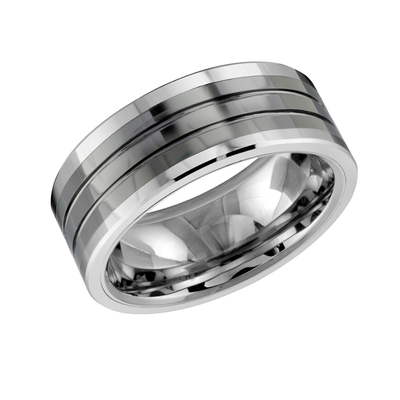 TUNGSTEN CARBIDE 8MM CERAMIC BAND