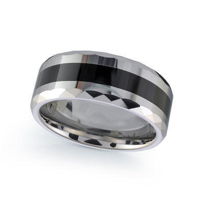 TUNGSTEN CARBIDE CERAMIC 8MM BAND