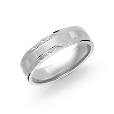 ITALGEM STEEL INFINITY TITANIUM DIAMOND-CUT 6MM-BAND