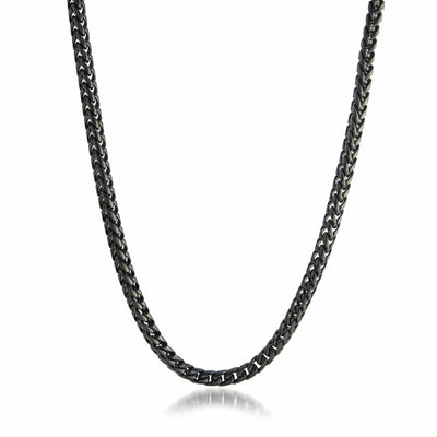 BLACK-IP S.STEEL 5MM-ROUND FRANCO POLISHED CHAIN